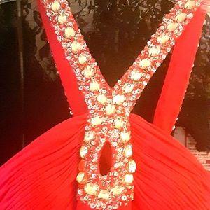 Alyce Paris lipstick Jersey Knit dress